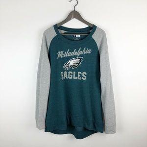 NFL Philadelphia Eagles Long Sleeve Crewneck Large